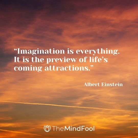 """""""Imagination is everything. It is the preview of life's coming attractions.""""  – Albert Einstein"""