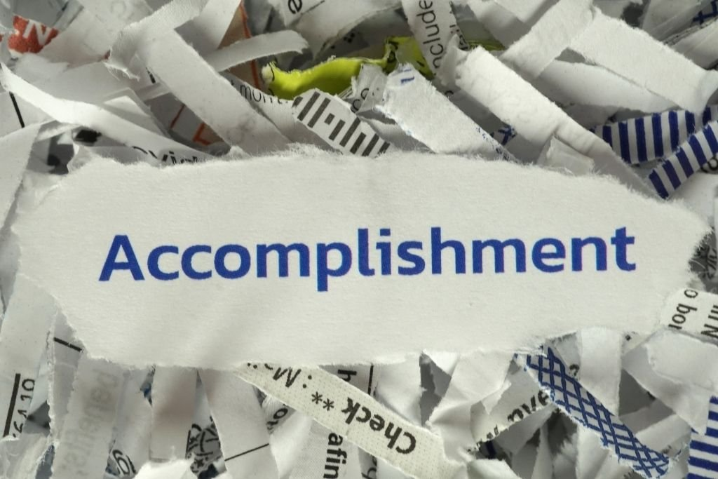 Mention your accomplishment