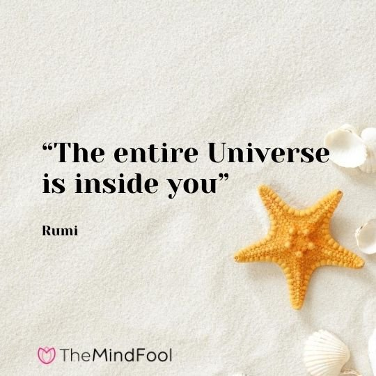 """The entire Universe is inside you"" - Rumi"