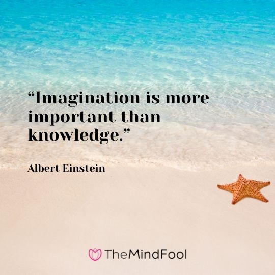 """Imagination is more important than knowledge."" – Albert Einstein"