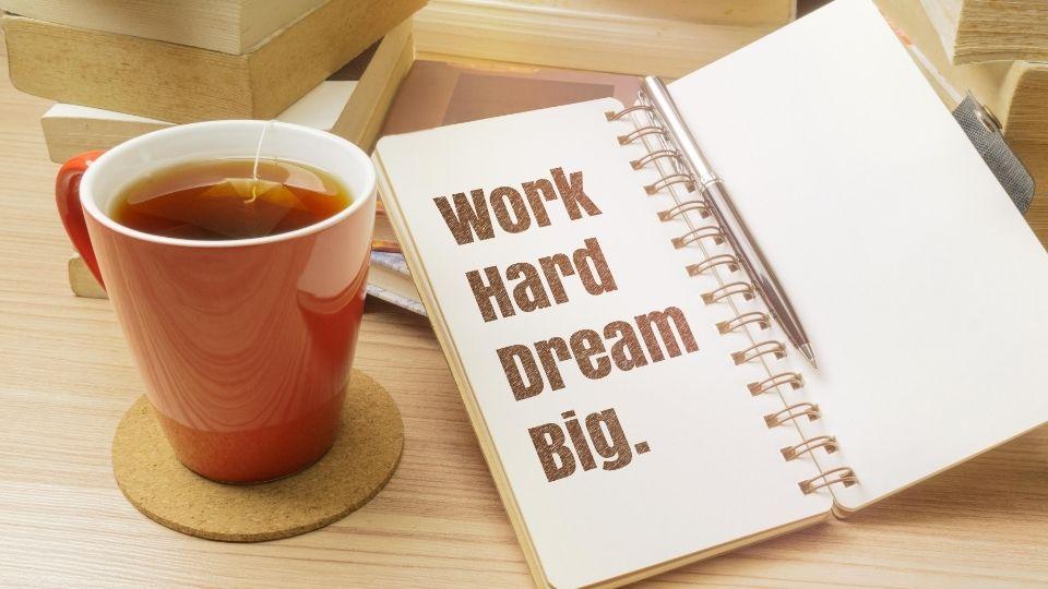 Make your dreams happen vision board