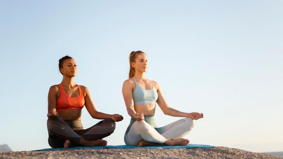 Vision board about meditation goals
