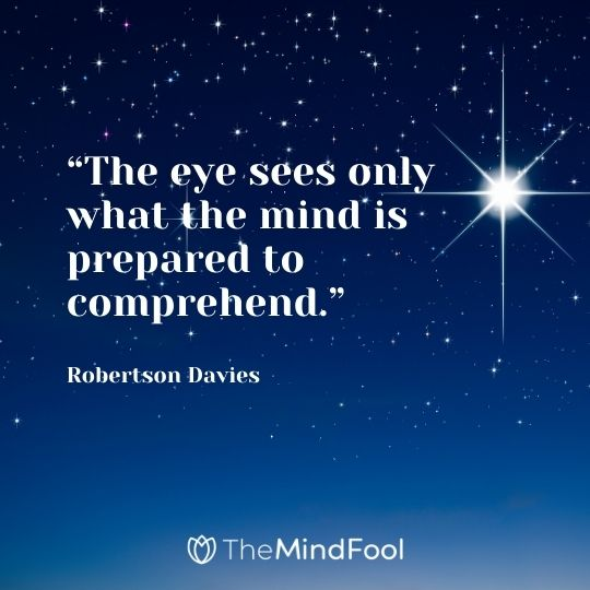 """The eye sees only what the mind is prepared to comprehend."" – Robertson Davies"