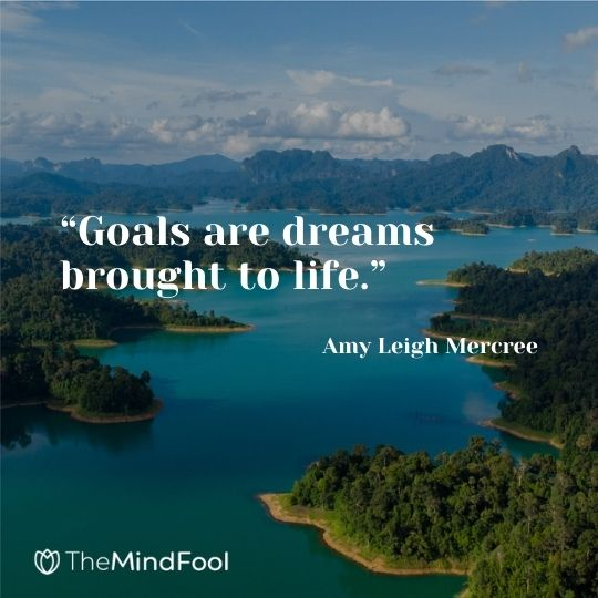 """Goals are dreams brought to life."" ― Amy Leigh Mercree"