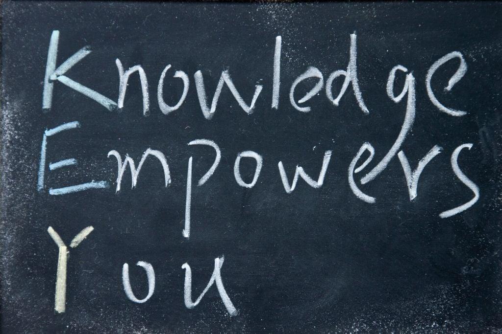 You attain knowledge
