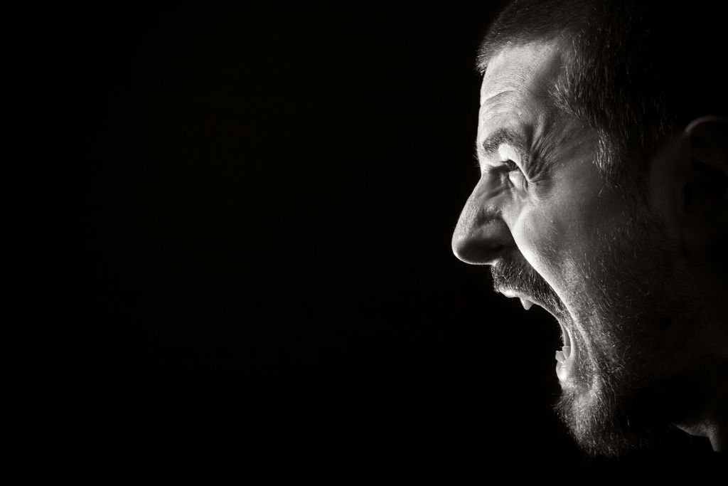 An outburst of anger