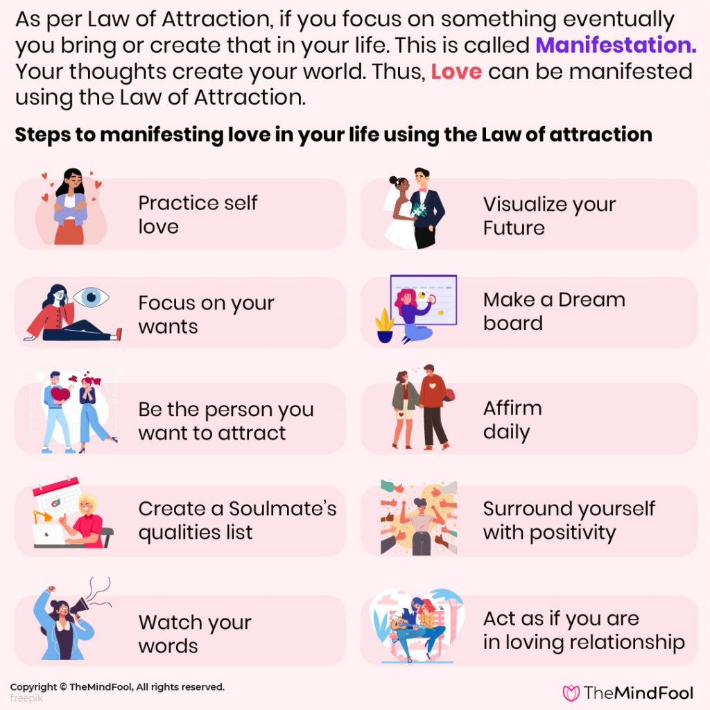 10 Steps to Manifesting Love Using the Law of attraction