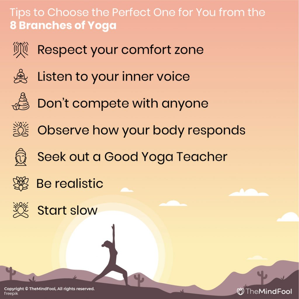 Tips to Choose the Perfect One for You from the 8 Branches of yoga