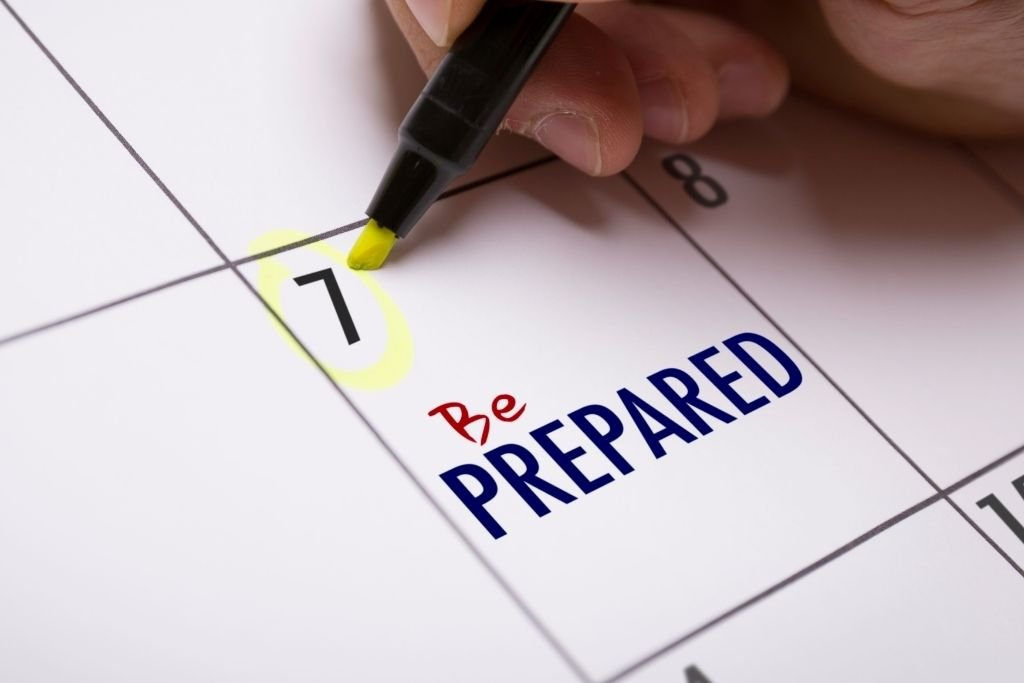 Be prepared for failure