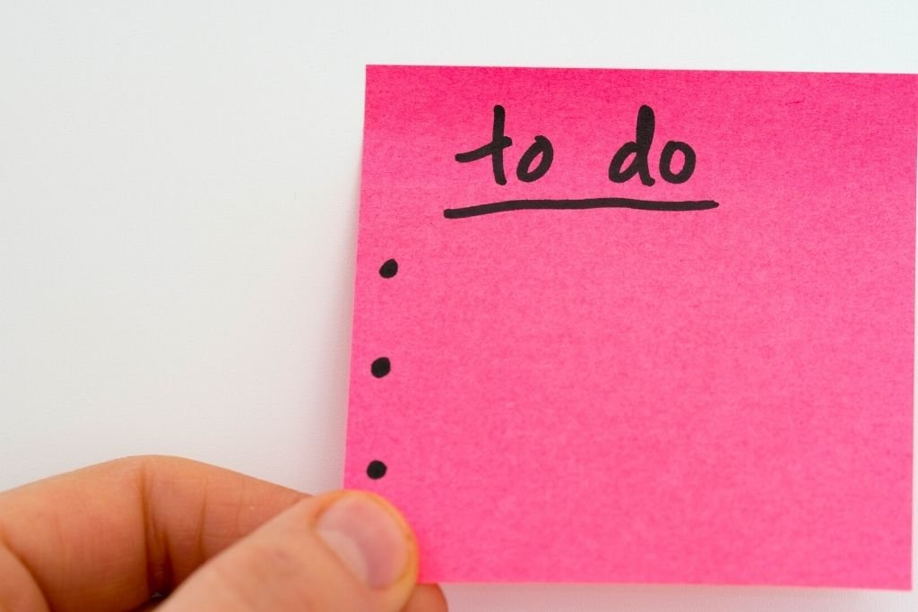 Make a to-do list and set intentions