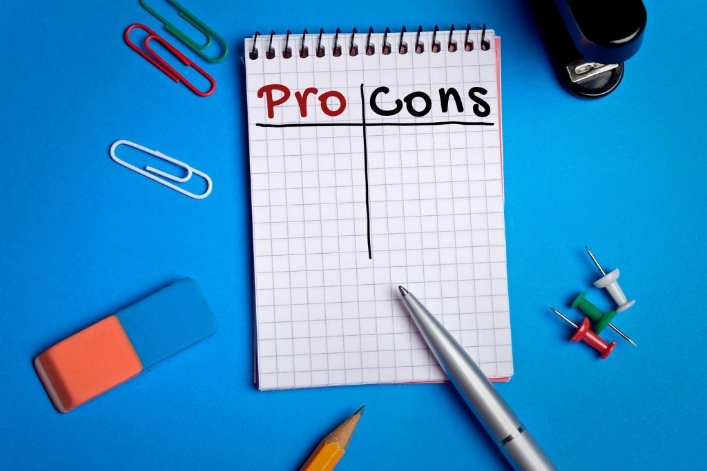 Write every day about your pros and cons