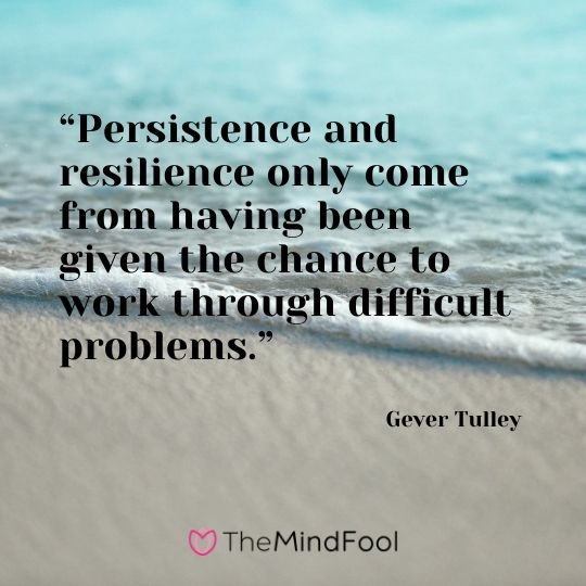 """Persistence and resilience only come from having been given the chance to work through difficult problems.""  - Gever Tulley"