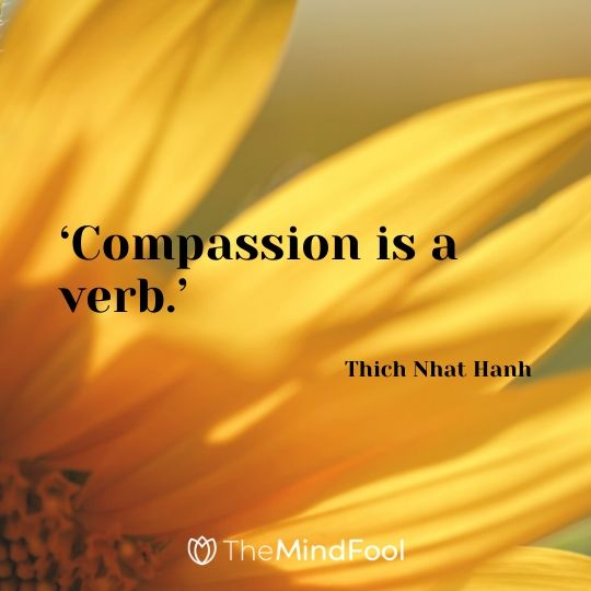 'Compassion is a verb.' - Thich Nhat Hanh