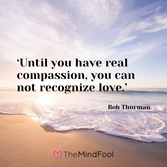 'Until you have real compassion, you can not recognize love.' – Bob Thurman