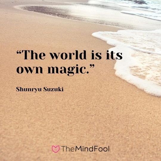 """The world is its own magic.""― Shunryu Suzuki"