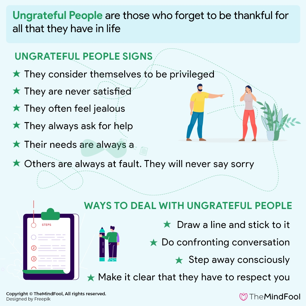 Ungrateful People: Ways To Get Rid Of Them