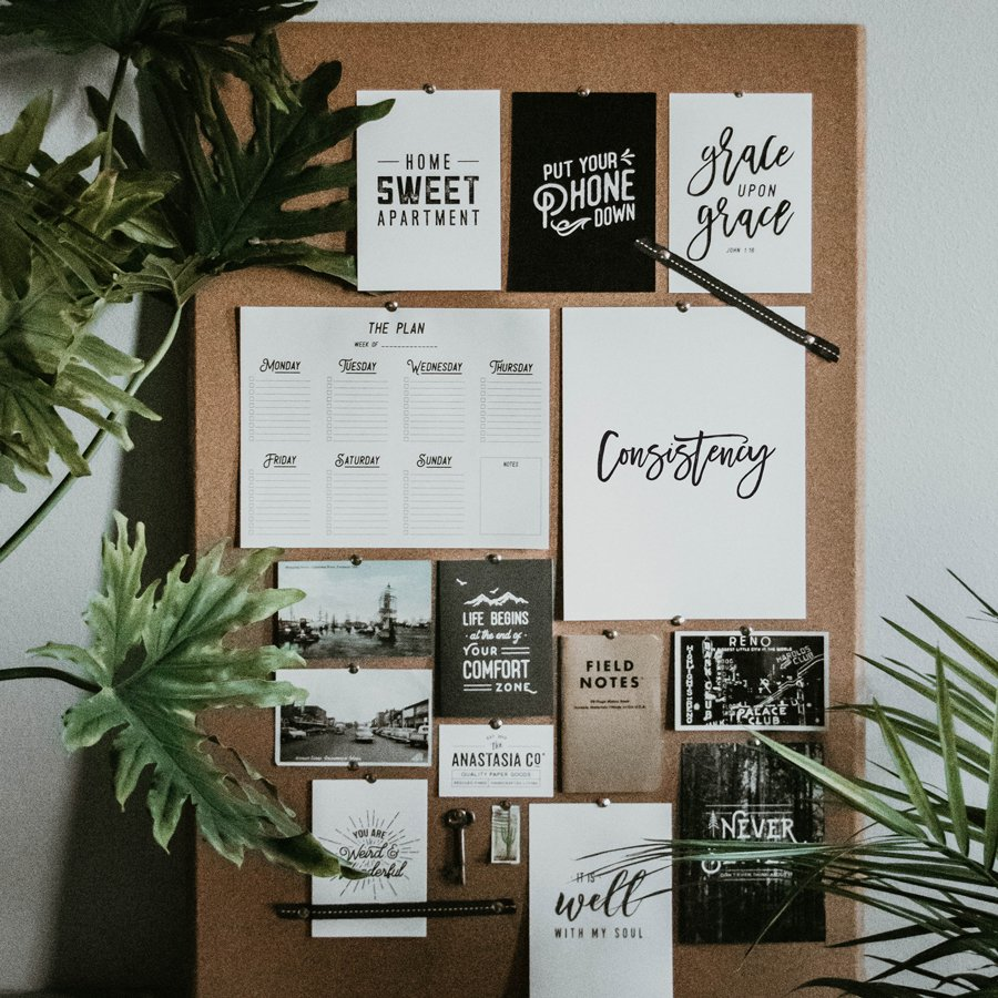 Word Power vision board