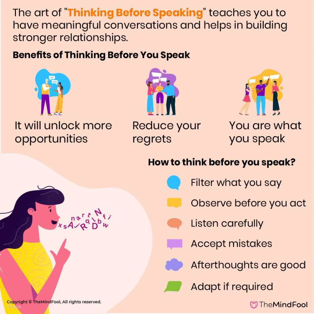 Think Before You Speak: Do you?